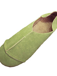 Черный Желтый Зеленый-Женский-Повседневный-Полиуретан-На низком каблуке-Удобная обувь-Мокасины и Свитер