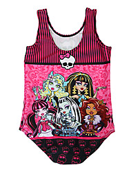 Girl Cartoon Print Swimwear,Spandex