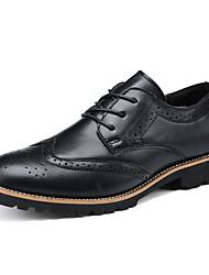 Черный Темно-коричневый-Для мужчин-Для прогулок-Полиуретан-На плоской подошве-Удобная обувь-Мокасины и Свитер