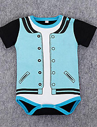 Baby Casual/Daily Solid Patchwork One-Pieces,Rayon Summer Long Sleeve