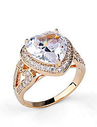 Ring Zircon Cubic Zirconia Alloy Fashion Luxury Jewelry Silver Golden Jewelry Daily Casual 1pc