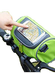 Waterproof Mountain Bike Bicycle Bags Panniers Touch Screen Cycling Phone Bag Case Road Bike Front Tube Handlebar Cylinder Bag