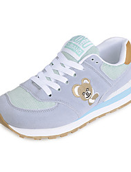 Women's Athletic Shoes Fall / Winter Comfort PU Casual Low Heel Lace-up Blue / Yellow / Gray Others