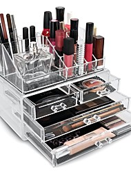 Cosmetic Storage Makeup Storage Acrylic Jewelry Display Boxes Two Pieces Set