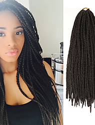 Box Braids Twist Braids Medium Brown Hair Braids 24Inch Kanekalon 90g Synthetic Hair Extensions