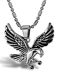 мужской стиль панк кулон ожерелье шарма нержавеющей стали 316l ретро скульптура ювелирных изделий орла форма