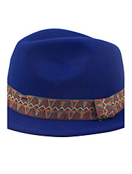 The New Winter Hat Europe And The United States British Wind Cashmere Wool Jazz Hat Small Hat