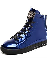 Men's Sneakers Winter Comfort PU Casual Flat Heel Lace-up Black Blue Gold