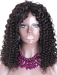 18 polegadas de venda quentes da Malásia cabelo virgem excêntricas perucas Curly com cabelo do bebê para as mulheres negras glueless cheia
