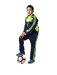 Kid's Soccer Clothing Sets/Suits Breathable Comfortable Spring Fall/Autumn Winter Solid Terylene Football/Soccer Dark Blue Light Blue