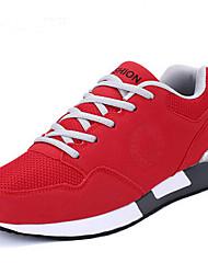 Masculino-Mocassins e Slip-Ons-ConfortoRosa Vermelho Cinzento Claro Cinzento ecuro-Couro Ecológico-Casual