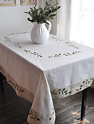 Embroidered Tablecloth Olive Tablelinen Many size