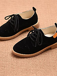 Girl's Oxfords Comfort PU Casual Black Brown Green