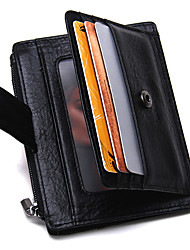 Contacts Genuine Leather Card Holder Thin Money Clip Sports Casual Outdoor Office & Career Shopping-Card & ID Holder-Cowhide-Men