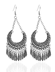 Drop Earrings Hoop Earrings Earrings Set Jewelry Women Party Daily Casual Alloy 1 pair Black
