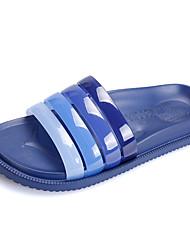 Herren-Slippers & Flip-Flops-Lässig-PUAndere-Schwarz Blau Khaki