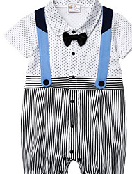 Baby Casual/Daily Solid One-Pieces,Cotton Summer Long Sleeve