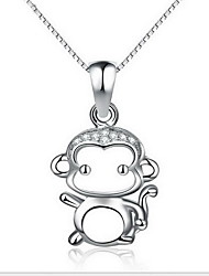 Pendant Necklaces Jewelry Sterling Silver Round Basic Animal Design Fashion Silver Jewelry Daily Casual 1pc