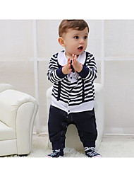 Baby Casual/Daily Striped One-Pieces,Rayon Summer Long Sleeve