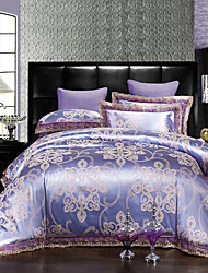 4-Piece Rome Style Jacquard Nobility High Quality silk Bedding, Embroidered Bedding Duvet Cover Set
