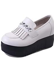 Women's Sneakers Spring Summer Fall Winter Comfort Light Soles PU Casual Flat Heel Black Green White