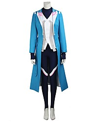 Video Game Cosplay Costumes Cosplay Suits Cosplay Tops/Bottoms Solid BlueCoat Leotard Gloves More