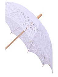 "Wedding Lace Umbrella Post Handle 37.8""(Approx.96cm)"