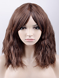 Europe and the United States in the long fashion brown color side points in the high temperature wire wig