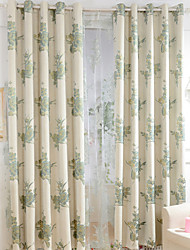 Two Panels Small Fresh Style Cotton Jacquard Ultra Thick Curtains The Living Room Bedroom Restaurant Children Room Curtains