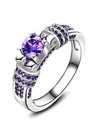 Ringe Hochzeit Party Besondere Anlässe Alltag Normal Schmuck Zirkon Bandringe Ring Verlobungsring 1 Stück,6 7 8 9 10 Lila