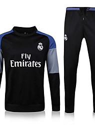 Unisex Soccer Clothing Sets/Suits Breathable Comfortable Summer Solid Terylene Football/Soccer Black