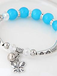 Women's Charm Bracelet Crystal Resin Alloy Fashion Animal Shape Silver Dark Blue Red Blue Pink Jewelry 1pc