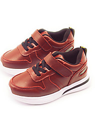 Girl's Sneakers Comfort PU Casual Black Red Light Brown