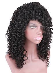 onda do corpo brasileiro do cabelo humano sem cola peruca cheia do laço para as mulheres negras