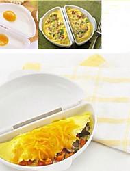 omelete de ovo de plástico fogão onda de microondas molde ferramenta de cozinha poach omelete cafeteira
