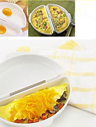 Plastic Egg Omelet Wave Cooker Mold Microwave Omelet Maker Poach Kitchen Tool