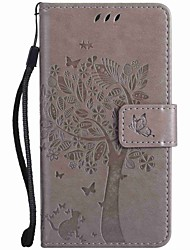 For Nokia Lumia 950 650 640 635 550 L435 Case Cover Embossed Trees and Cats PU Phone Case