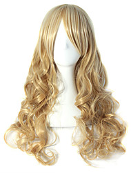 Mix Color Blonde Synthetic Wigs Body Wave Wig Neat Bang Hair Wigs Women's Hair Heat Resistant Synthetic Wigs