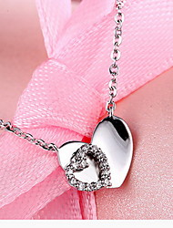 Pendants Basic Design Heart Design Fashion Sterling Silver