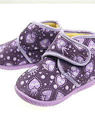 Girls' Baby Flats Slingback Canvas Microfibre Summer Casual Slingback Flower Flat Heel Purple Blushing Pink Flat