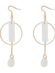 Drop Earrings Copper Cowry Fashion White Jewelry Party Daily 1 pair