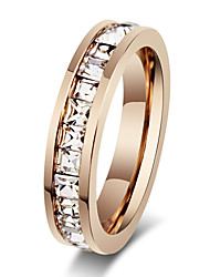 Ring Fashion Party Jewelry Rhinestone / Steel Women Band Rings 1pc,One Size Rose Gold