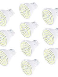 5W GU10 Spot LED 80 SMD 2835 450 lm Blanc Chaud Blanc Froid Décorative AC220 V 10 pièces