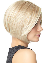Trendy Synthetic Wigs Bob Wig Neat Bang Silver White Wigs Women's Hair Heat Resistant Synthetic Wigs