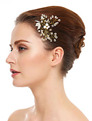 Women's Crystal Imitation Pearl Headpiece-Wedding Special Occasion Hair Pin 1 Piece
