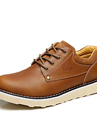 Men's Oxfords Spring Summer Other Cowhide Outdoor Casual Work & Safety Flat Heel Others Brown Khaki Other