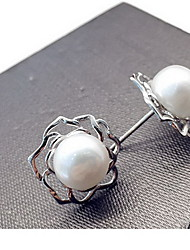 Stud Earrings Pearl Fashion Silver Jewelry Daily Casual 1 pair