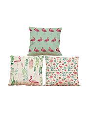 3 PC Lino Natural/Orgánico Cobertor de Cojín Funda de almohada,Sólido Con TexturasReforzar Euro Estilo playero Casual Retro