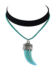Necklace Choker Necklaces Jewelry Casual Basic Design Birthstones Alloy Turquoise Women 1pc Gift Red Blue
