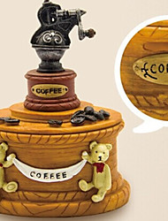1 PC Creative Savings Resin Tank Piggy Bank Coffee Machine Money Home Furnishing Decoration Process Elements